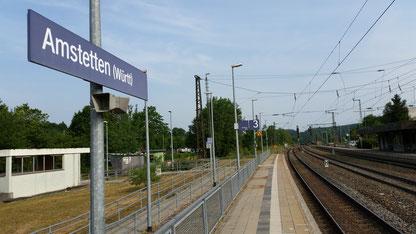 Der Zug in Amstetten lässt auf sich warten...