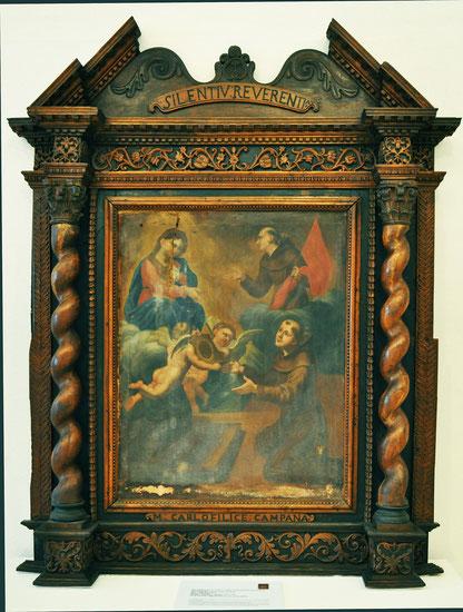 Moltifao-Eg. de L'Annonciation- retable baroque sculpté par Carlo Filice Campana- 18e s.