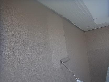 外壁上塗り 中塗りと色同じ 熊本I様邸