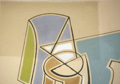 peintures murales, pendant le nettoyage, Atelier Bacher Tillmanns, Vaud