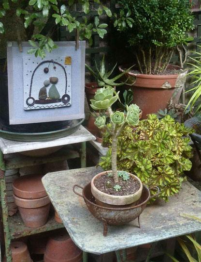 Le jardin de l'atelier des Petits Pavés