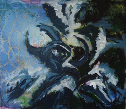 Durchbruch ins Innere,  intuitive Malerei, Seelenbilder, Gefühlswelten, Selbstausdruck, Olching