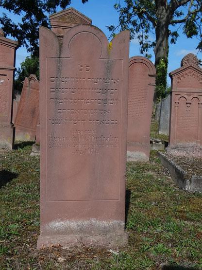 Grab und Grabstein von Hermann Wetterhahn