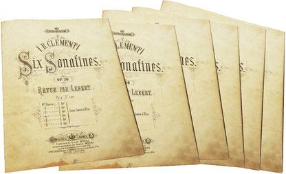 Сонатины Клементи, редакция Леберт, ноты для фортепиано