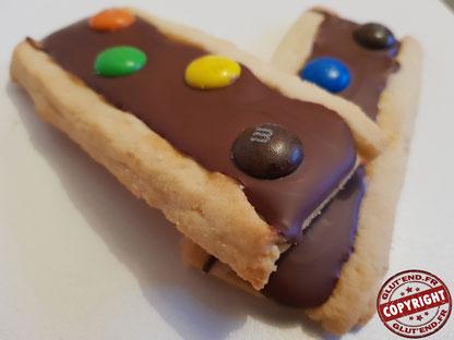recette biscuit façon barre m&ms sans gluten