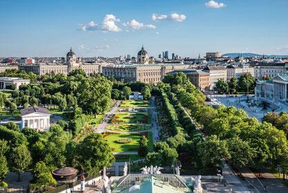 (c) Wien Tourismus, Blick vom Burgtheater über den Volksgarten
