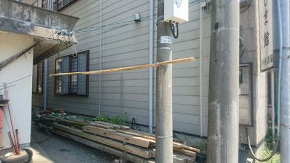 物干し竿その2 玄関出て右にあります!