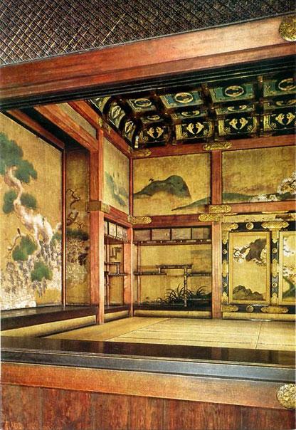 Chambre des audiences du shōgun, le Kuro-Shoin  (photos Nijo-jo Castle - carte postale vendue au château)