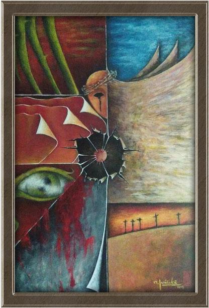 akryl | I/17 | Via Dolorosa st. VII / rozm.60x40 | cena: 600 pln