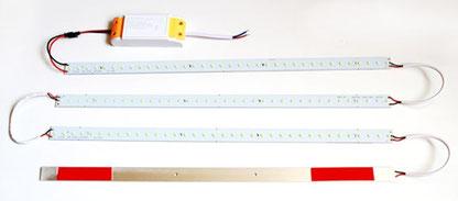 Комплект светодиодных линеек для замены ламп в растровых светильниках