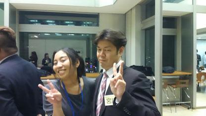 地域活性プランニング宮川さん(NHK○○といっしょ元ジャジャ〇の中の人ww)とパチリ