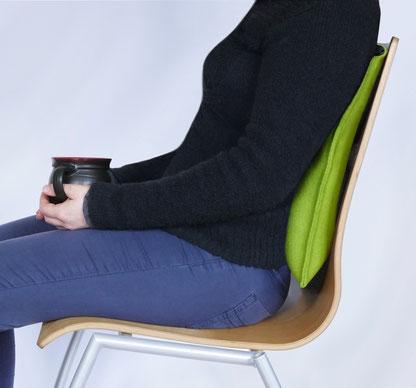 Ergonomisches Sitzkissen Bürostuhl Pad als Rückenkissen mit Lordose-Extra