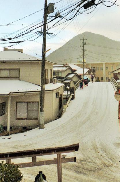 雪の八尾川橋