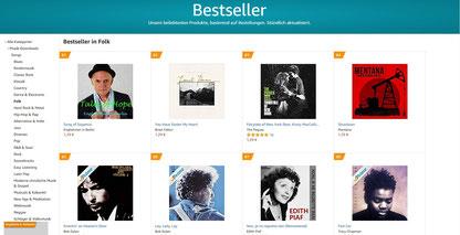 """zeitgleich Platz 1 - Bestseller in der Kategorie """"Folk""""!"""