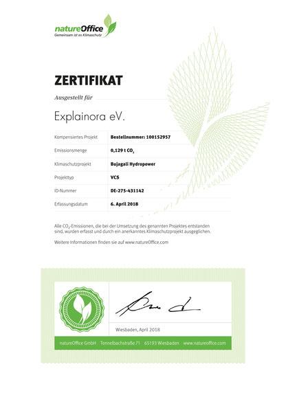 Explainora, umweltdruckerei, druckerei, zertifikat