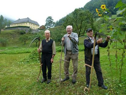 Von links nach rechts: Karl Josef Zweckmayr, Karl Ostermann sen., Karl Schwaiger