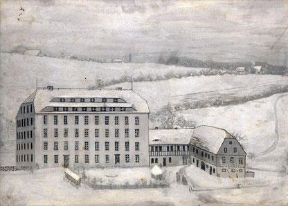 Bild: Schrötermühle Wünschendorf 1870