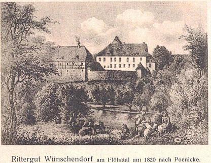 Bild: Rittergut Wünschendorf 1820 Teichler