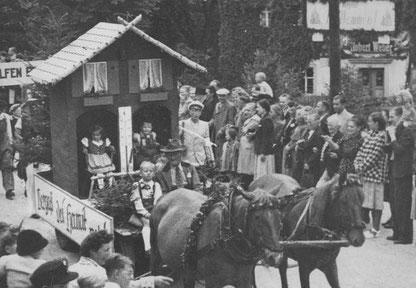 Bild: Wünschendorf Erzgebirge Schulfest 1952