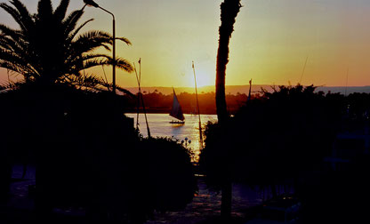 Blick über den Nil auf die Westbank