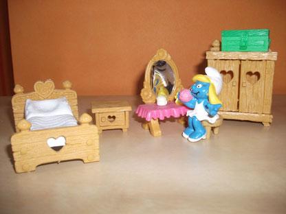 La chambre de la Schtroumpfette