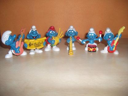 Schtroumpfs musiciens