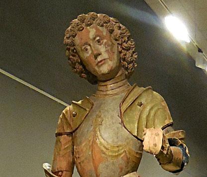 Saint Georges, détail de polychromie lacunaire / Musée Abbeville