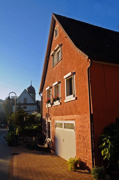 Haus Erna in der Morgensonne