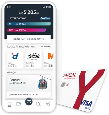 Yapeal-Konto mit Visa Debit Karte