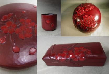 鎌倉彫青山工房 桜の図柄展
