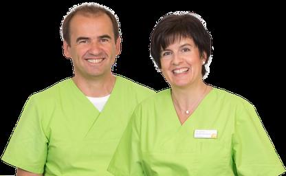 Dr. Jürgen Neubauer, Zahnarzt, und Dr. Sylvia Hindel-Neubauer, Zahnärztin, in Hauzenberg bei Passau (© Fotos: Praxisdesign Dr. Ralf Peiler)