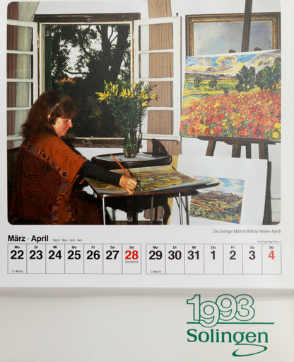 Bettina dans le calendrier Solingen de 1993