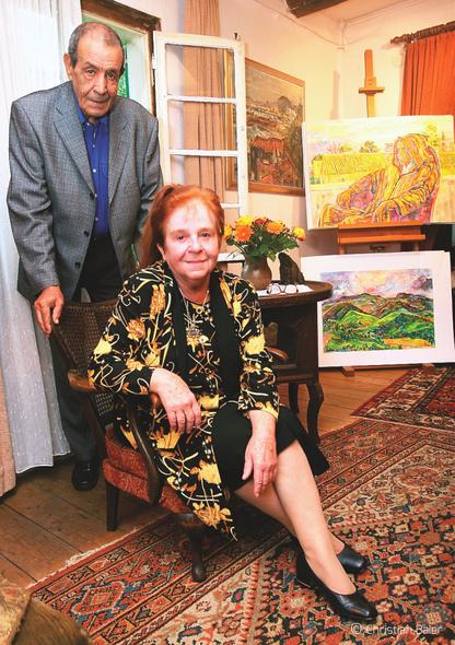 Bettina Heinen-Ayech and her husband Abdelhamid Ayech, 1998
