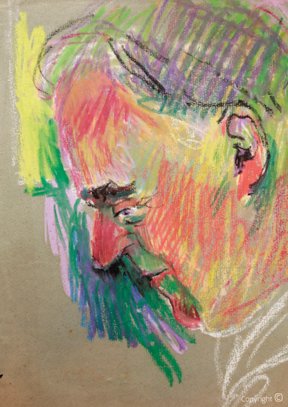 Bettina Heinen-Ayech (1937-2020): Erwin Bowien beim Zeichnen, 1958