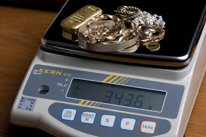 geeichte Waage für den Goldankauf