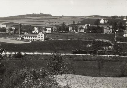 Güterzug vor Eibenberg 1914 Quelle: Deutsche Fotothek