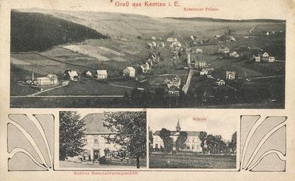 Rößlers Materialwirtschaft auf einer alten Ansichtskarte