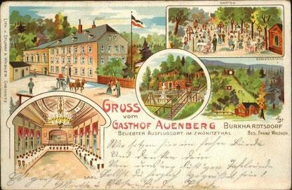 Der Wirt Franz Walther betrieb das Lokal ab 1901
