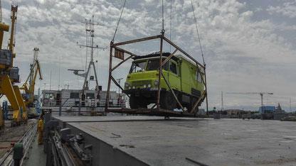 Shipping Robur LO Wohnmobil Iran Bandar-e-Anzali nach Kazachstan Aktau