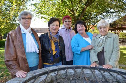 Das Caritas-Leitungsteam: Elfriede Fornwagner, Marianne Kaindl, Ilse Pichler, Heidi Brunner, Marianne Burgstaller