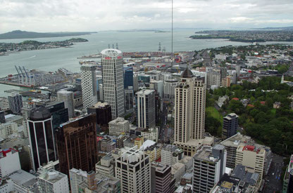 Blick vom Sky Tower, Auckland