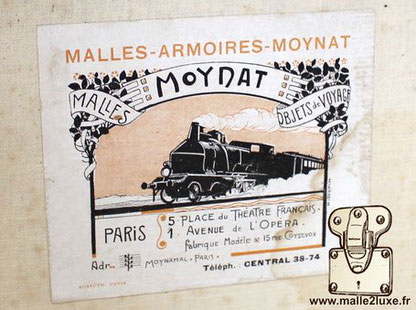 old label Moynat small train trunk