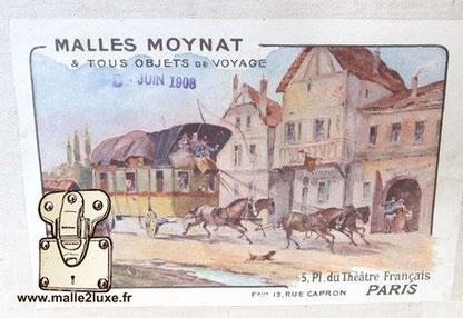 Moynat trunk label 1908