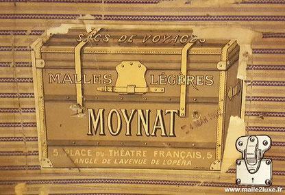 étiquette ancienne malle moynat