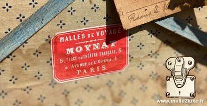 Malles de voyage Moynat 5, place du théâtre français, 5 e Avenue de l'opera, 1 Paris