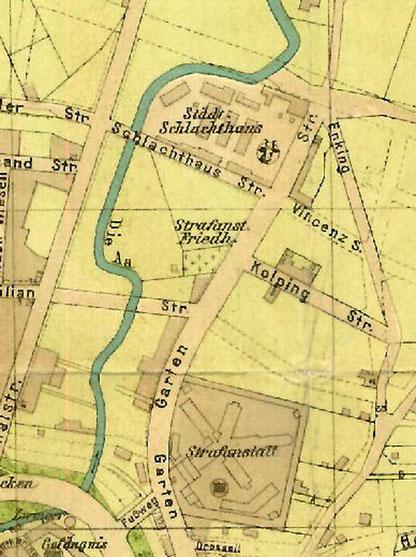 Stadtplan um 1905