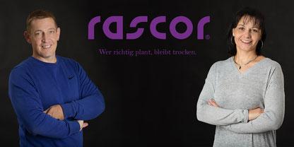 Adrian und Jacqueline Imhof von Rascor Bauabdichtung AG