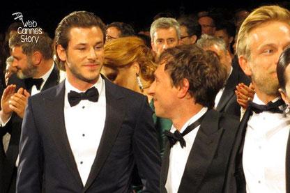"""Gaspar Ulliel et Bertrand Bonello, réalisateur de « SAINT LAURENT """"- Festival de Cannes 2014 - Photo © Raymond HAIK"""