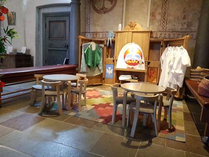 Doch etwas innovativ: Spielaltar in der protestantischen Kirche in Gamla Uppsala
