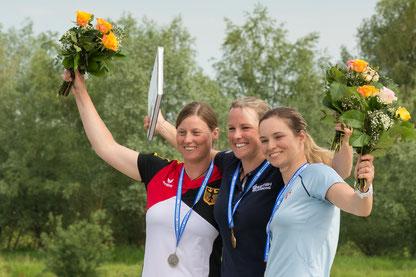 Anne Hübner wird Vize-Europameisterin im Kanu-Freestyle! Gold holte Claire O´hara (GBR) und Bronze Nina Csonkova (SVK). Foto: Birgit Stiebing